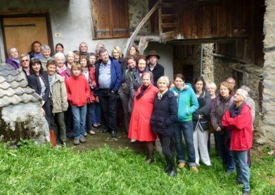 Guides du Patrimoine des Pays de Savoie en formation à St Jean de Belleville 2015
