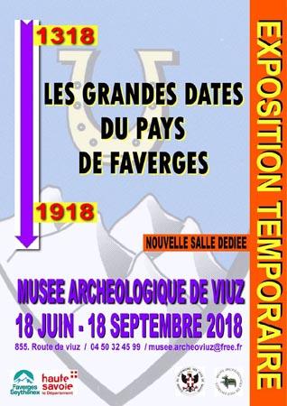 Exposition les grandes dates du Pays de Faverges 1318 2018 avec les Guides du Patrimoine Savoie Mont Blanc Guides PSMB
