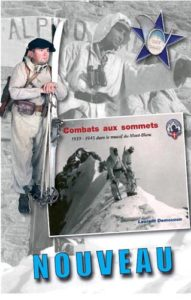 Livre de Laurent Demouzon Combats aux sommets Guides du Patrimoine Savoie Mont Blanc