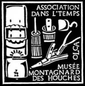 Logo de l'association Dans l'temps Les Houches avec les Guides du Patrimoine Savoie Mont Blanc