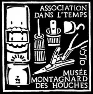 Association Dans l'temps Les Houches logo avec les Guides du Patrimoine Savoie Mont Blanc