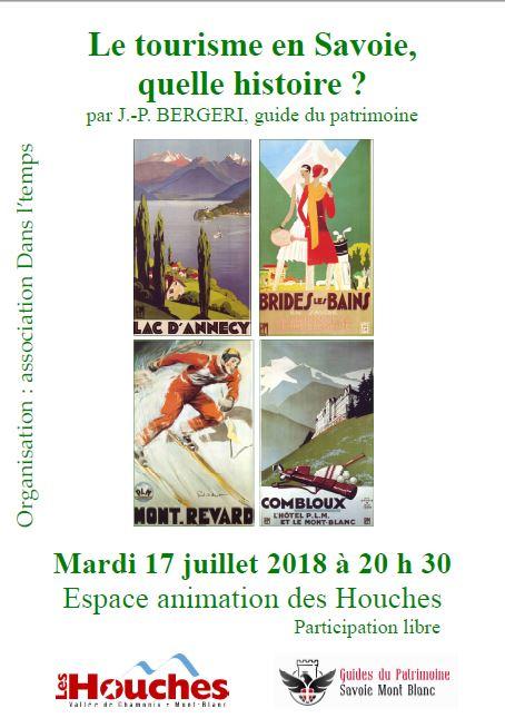 Conférence le Tourisme en Savoie par Jean-Paul Bergeri Guide du Patrimoine Savoie Mont Blanc