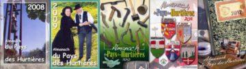 couvertures collection Almanach du Pays des Hurtières Maurienne avec les Guides du Patrimoine Savoie Mont Blanc