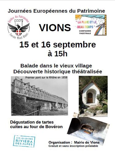 JEP 2018 à Vions en Chautagne Aix Riviera avec les Guides du Patrimoine Savoie Mont Blanc
