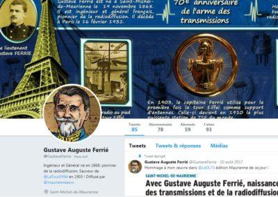 Gustave Ferrié sur Twitter avec MauriennisezVous et les Guides du Patrimoine Savoie Mont Blanc