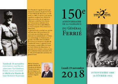 conférence et livre Général Ferrié par Michel amoudry Guide du Patrimoine Savoie Mont Blanc