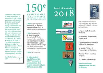 conférence et livre Général Ferié par Michel Amoudry Guides du Patrimoine Savoie Mont Blanc