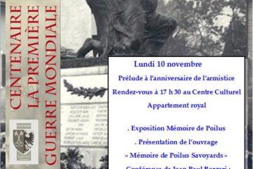 Conférence de Jean-Paul Bergeri le monument aux morts de Moutiers Guides PSMB