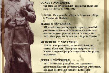 """Conférence Laurent Demouzon Guide du Patrimoine Savoie Mont Blanc """" La grande Guerre en Maurienne"""""""