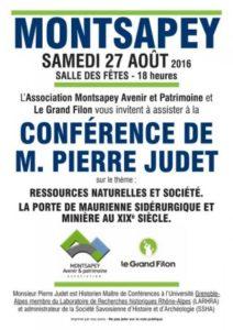 Conférence Pierre Judet Site minier des Hurtières histoire Maurienne