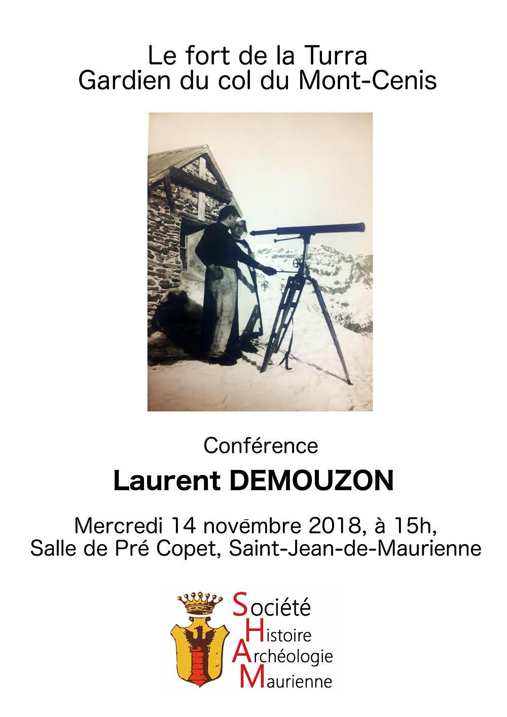 Conférence livre Laurent Demouzon GuidesPSMB Fort de la Turra Maurienne Savoie