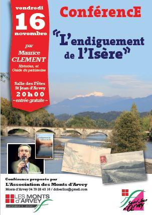 conférence Maurice Clément Guide du Patrimoine Savoie Mont Blanc sur l'endiguement de l'Isère 2018