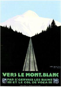 Exposition la montagne s'affiche PLM St Gervais les Bains 2018 avec Guides du Patrimoine Savoie Mont Blanc