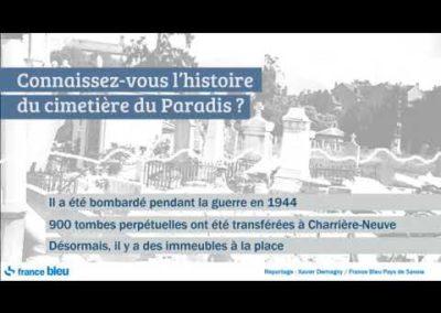 Chambery le cimetière de paradis reportage France Bleu
