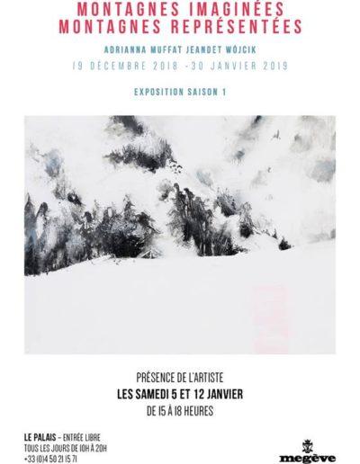 Exposition Megeve montagnes imaginées montagnes représentées avec Guides PSMB