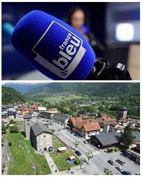 France Bleu Laurent Pascal et les Guides du Patrimoine Savoie Mont Blanc à Aime Tarentaise