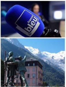 France Bleu Laurent Pascal et les Guides du Patrimoine Savoie Mont Blanc à Chamonix
