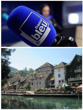 France Bleu Laurent Pascal et les Guides du Patrimoine Savoie Mont Blanc à Chanaz en Chautagne
