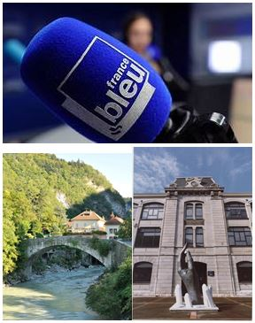 France Bleu Laurent Pascal et les Guides du Patrimoine Savoie Mont Blanc à Cluses