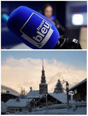 France Bleu Laurent Pascal et les Guides du Patrimoine Savoie Mont Blanc à Combloux