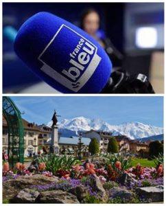 France Bleu Laurent Pascal et les Guides du Patrimoine Savoie Mont Blanc à Sallanches