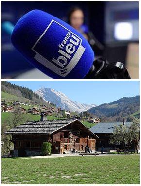 France Bleu Laurent Pascal et les Guides du Patrimoine Savoie Mont Blanc au Grand Bornand