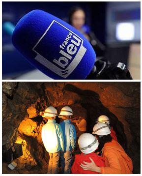 France Bleu Laurent Pascal et les Guides du Patrimoine Savoie Mont Blanc au Site minier des Hurtières en Maurienne