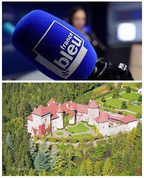 France Bleu Laurent Pascal et les Guides du Patrimoine Savoie Mont Blanc au chateau de Thorens