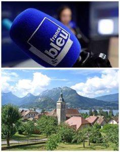 France Bleu Laurent Pascal et les Guides du Patrimoine Savoie Mont Blanc à Talloires