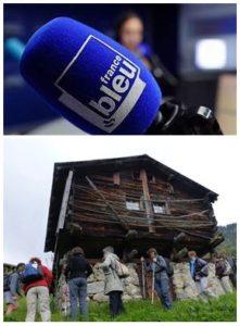 France Bleu Laurent Pascal et les Guides du Patrimoine Savoie Mont Blanc à Vallorcine