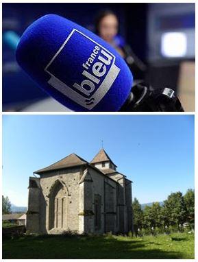 France Bleu Laurent Pascal et les Guides du Patrimoine Savoie Mont Blanc au Prieuré de Contamine sur Arve