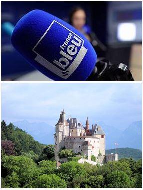 France Bleu Laurent Pascal et les Guides du Patrimoine Savoie Mont Blanc au chateau de Menthon St Bernard