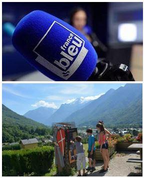 France Bleu Laurent Pascal et les Guides du Patrimoine Savoie Mont Blanc en Porte de Maurienne