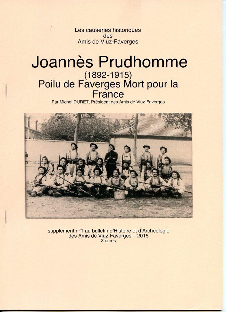 Bulletin des Amis de Viuz Faverges 1-Joannes Pruhdomme