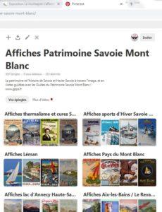 Pinterest affiches PLM vintage Guides du Patrimoine Savoie Mont Blanc