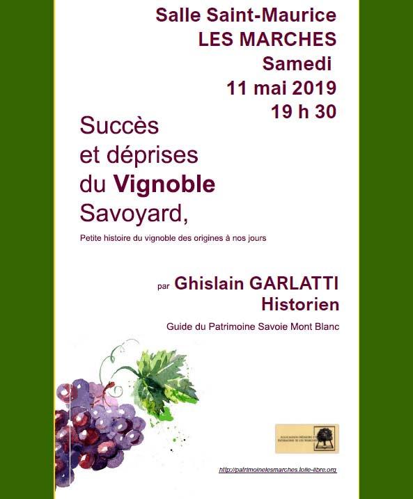 conférence Ghislain Garlatti Guide du Patrimoine Savoie Mont Blanc vins de Savoie
