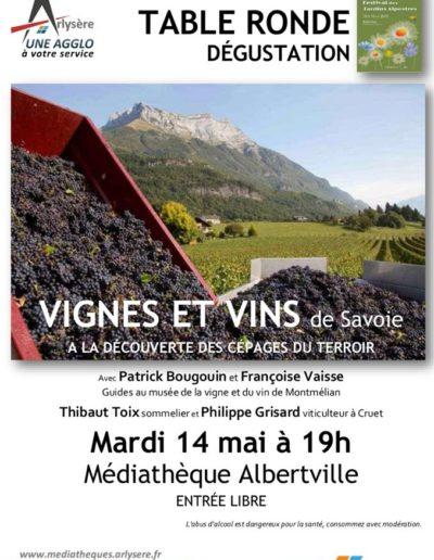 table ronde dégustation vin Guides du Patrimoine Savoie Mont Blanc 2019
