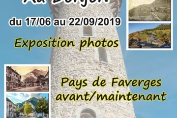 Donjon de Faverges exposition 2019 visites Guides du Patrimoine Savoie Mont Blanc