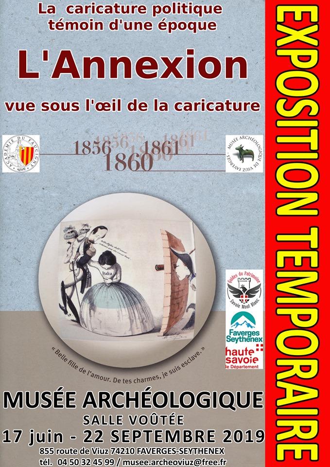 Faverges exposition caricatures annexion visites Guides du Patrimoine Savoie Mont Blanc