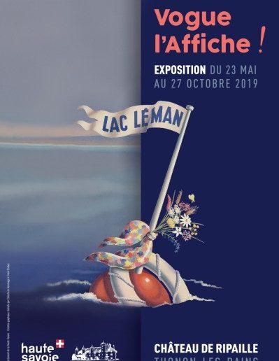 Exposition Vogue l'affiche au Chateau de Ripaille avec les Guides du Patrimoine Savoie Mont Blanc