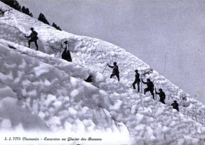 Chamonix alpinisme carte postale ancienne visite Guides PSMB