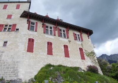 chateau de Menthon visite Guides PSMB aile XVIIIe fenetres gd salon