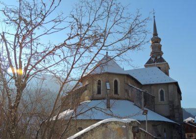 Abbaye d'Abondance sous la neige en visite Guides PSBM