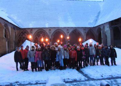 Abbaye d'Abondance sous la neige en visite de groupes avec Guides PSBM